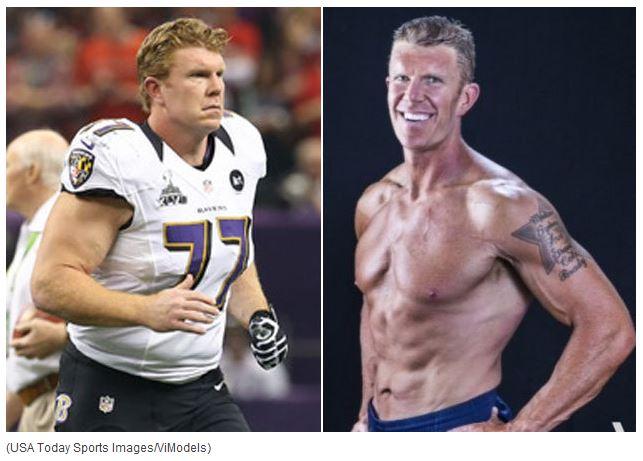 Matt Birk, before and after.