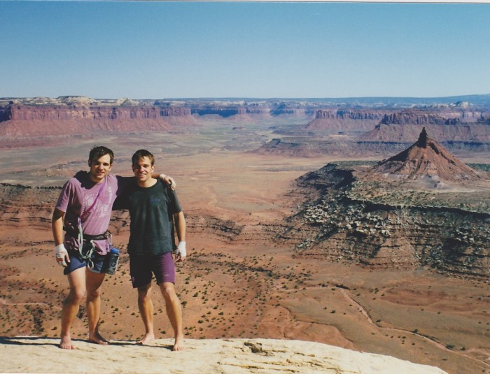 This picture was taken around 1999.  I'm on the left.  Definitely not lean and mean.  When I look at pictures of myself from this period its easy to see why I was struggling to climb 5.11