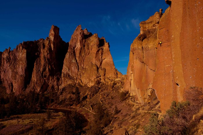 At crags like Smith Rock, where sharp holds abound, skin toughness can be the deciding factor.