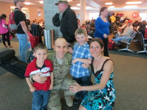 Reuniting with my family after an all-expenses paid vacation to Afghanistan.