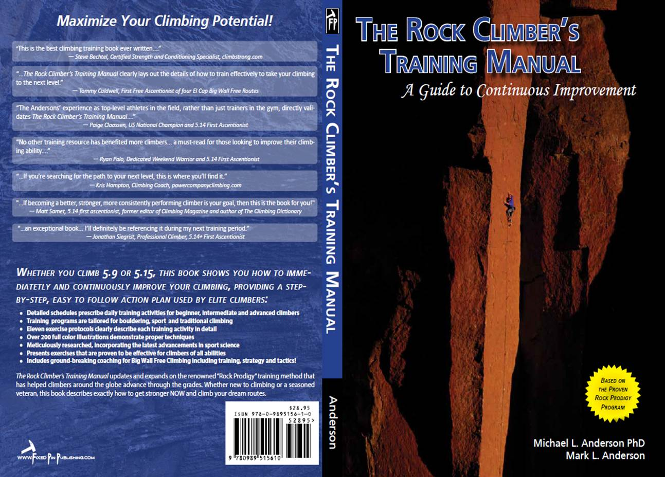The rock climbers training manual a comprehensive program for rctm cover spreadfinal fandeluxe Image collections