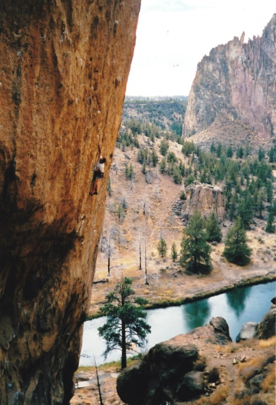 Attempting Aggro Monkey, 5.13b, Smith Rock.