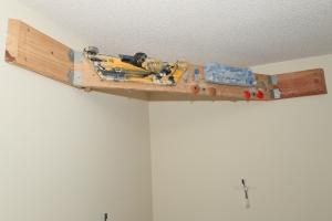Corner hangboard mount.