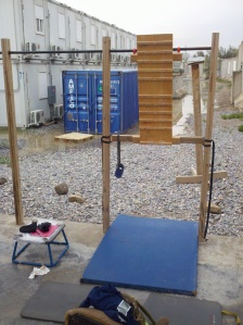 My portable campus board at Kandahar Air Field, Afghanistan