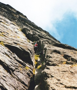 A typical TNT First Ascent attempt c. 2000: Unappealing, already climbed, and ultimately aborted.