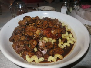 Chicken Marsala, our favorite dish at Tradewinds in Niceville, FL.  They use a unique blend of Marsala and Sherry wine that makes it sweeter than most Marsalas.