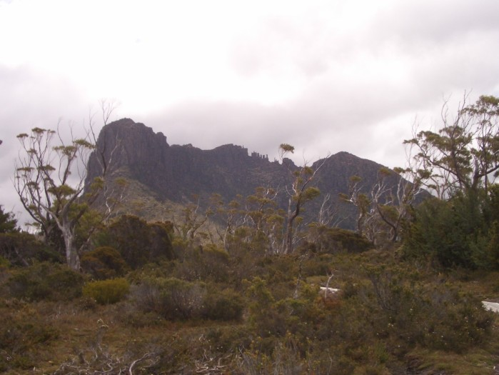 The Acropolis, one of many fantastic dolerite peaks in central Tasmania.