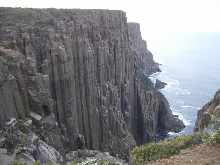 The stunning sea cliffs along the Tasman Peninsula.