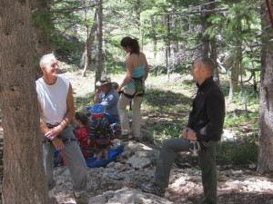 Discussing the merits of training, especially for those with limited climbing time.