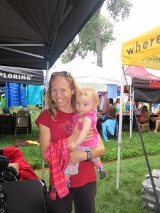 Kate and Amelie enjoying the Trango tent.