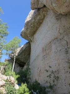 "The ""Rode Hard Wall"" at Wild Iris - perfect Dolomite limestone."