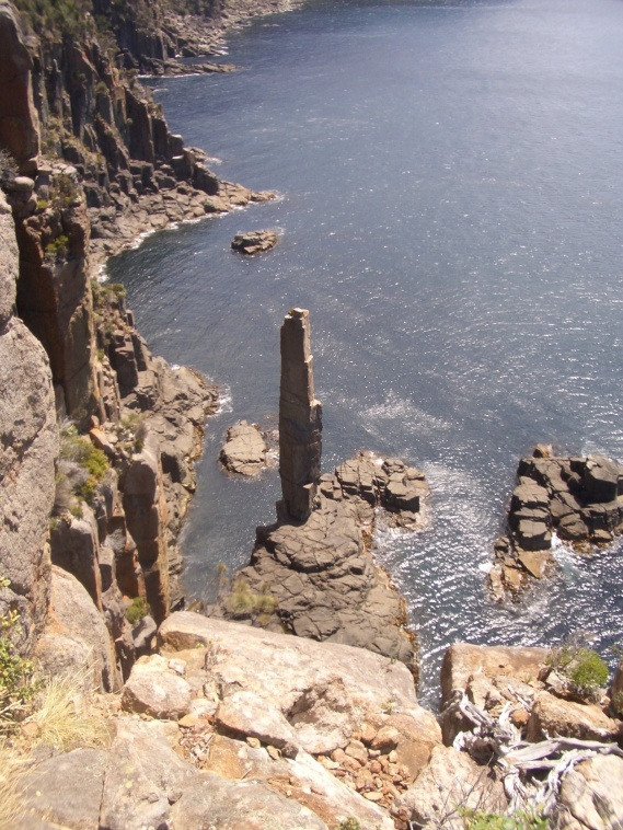 The Moai sits at the opposite end of Fortescue Bay from Cape Hauy.
