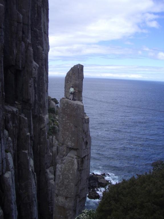 Kate on the summit ledge.
