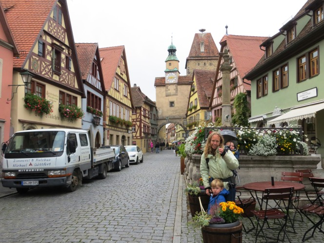 The family exploring Rothenberg.