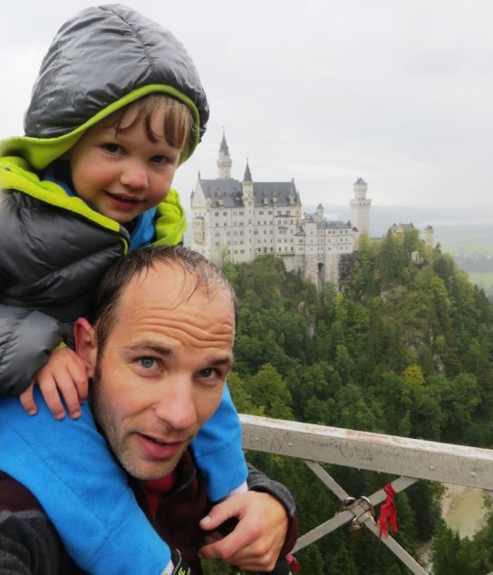 A wet hike to a fantastic castle.