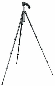 I use this light-weight photo/video tripod from Manfrotto for recording my climbing.