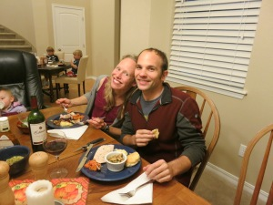 Mark and Kate at our Thanksgiving celebration.