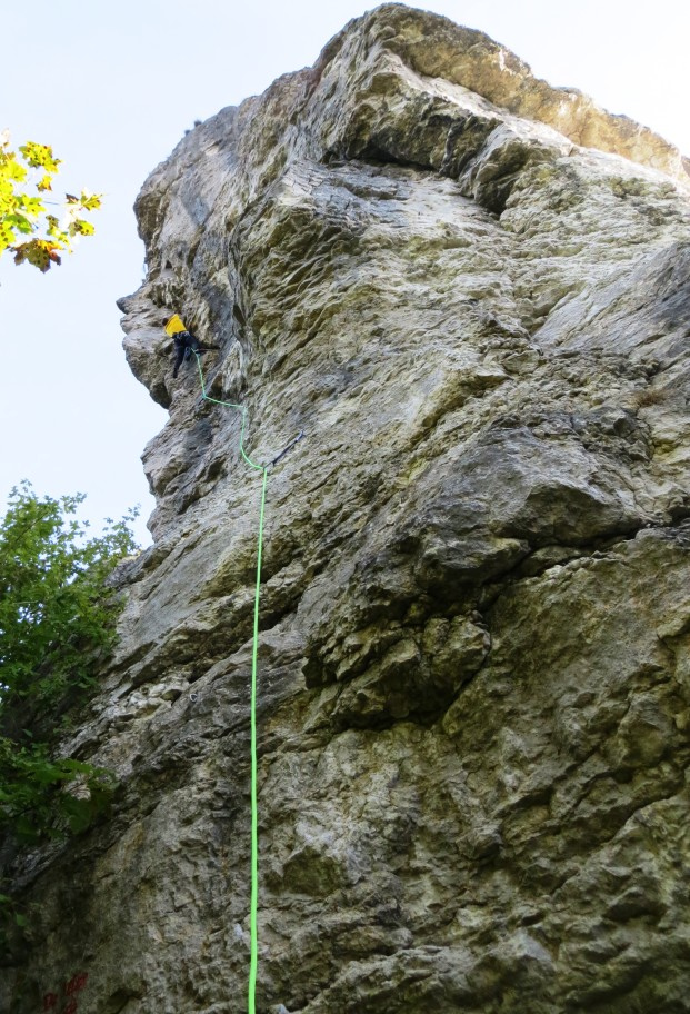Way up the world's first sport climb?  Adolf Rott Memorial Route.