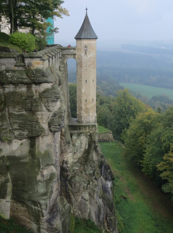 One of the more remarkable watchtowers at Festung Konigstein