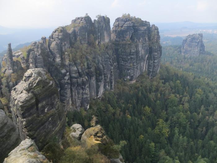 Elbsandstein, from the Schrammsteinaussicht overlook