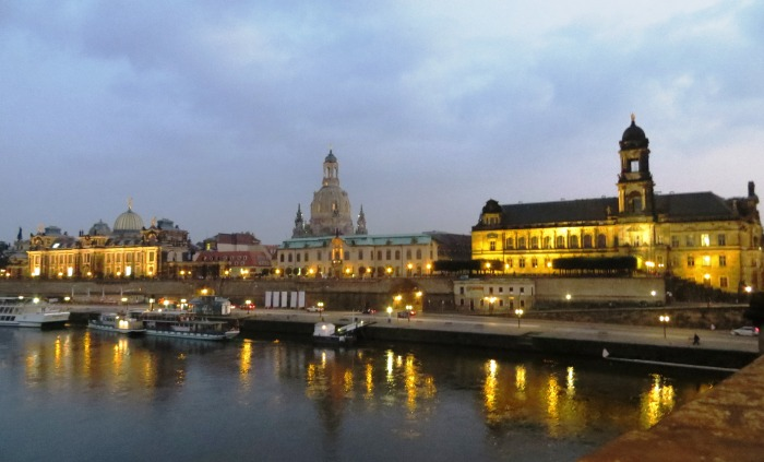 The altstadt skyline from the Augustusbrucke.