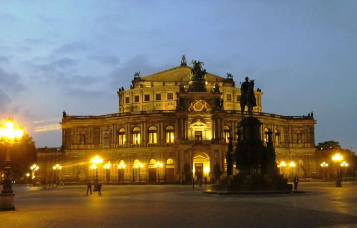 The Semperoper Opera House.