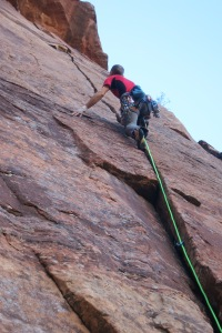 "The ""Larson/Farr"", an amazing 5.11- splitter hand crack."