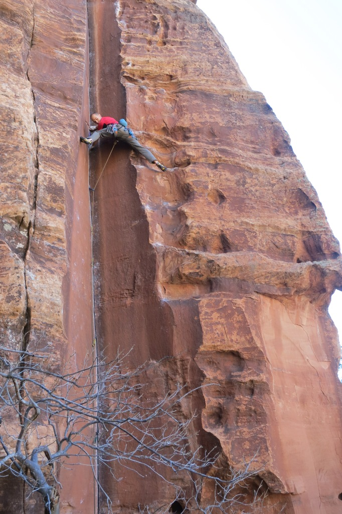 Inner Chi - an amazing 5.11 that Brian established years ago.  Who knew Zion had climbing like this? Brian did!