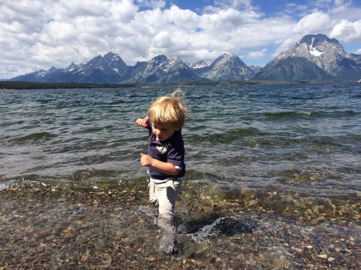Logan in Jackson Lake (Tetons)...
