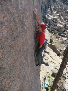 A crazy-long undercling move to a good edge.