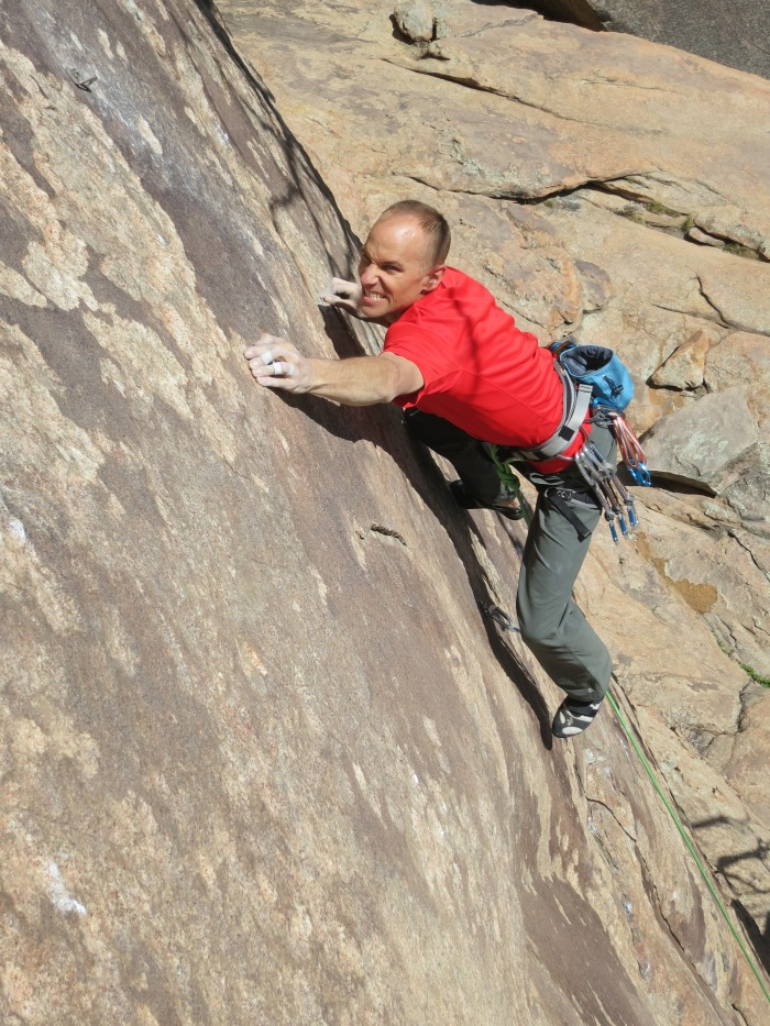 "Upping the ante at Thunder Ridge - Mike Anderson established ""The Spark, 5.13c"" at Thunder Ridge in April."