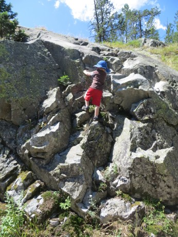 Logan crushing in Cascade Canyon, Grand Teton NP.