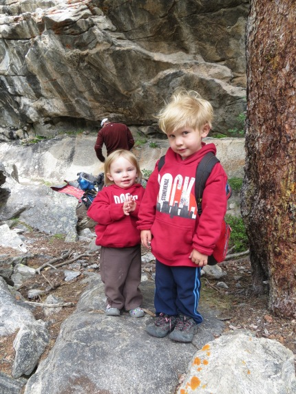 Amelie and Logan at Outrageours Overhang (Indy Pass).  For some reason Logan's look in this pic just kills me.