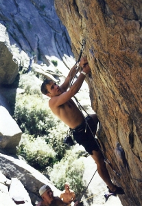 Climbing in Thunder Ridge's Wasp Canyon in 1998, when I was a USAF Academy Cadet.