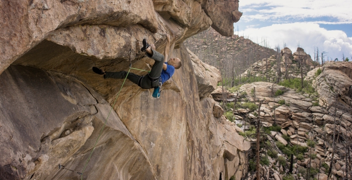 "Mike Anderson on his new Thunder Ridge route ""The Legacy, 5.14a"""