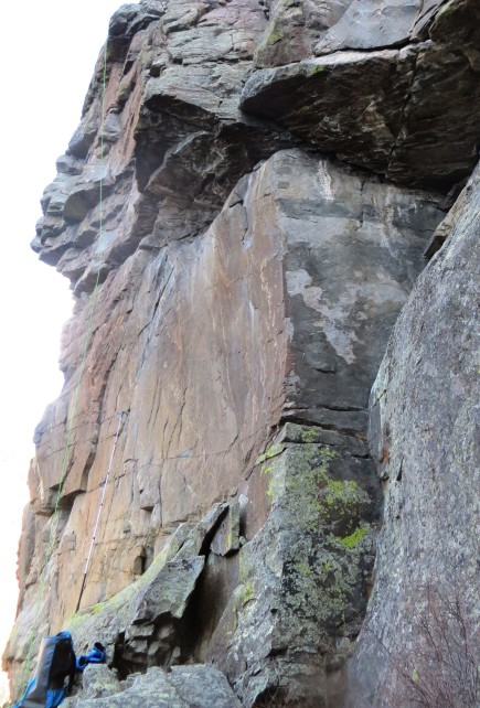 "One of the new crags I bolted in late November, tentatively named ""Iron Buttress""."