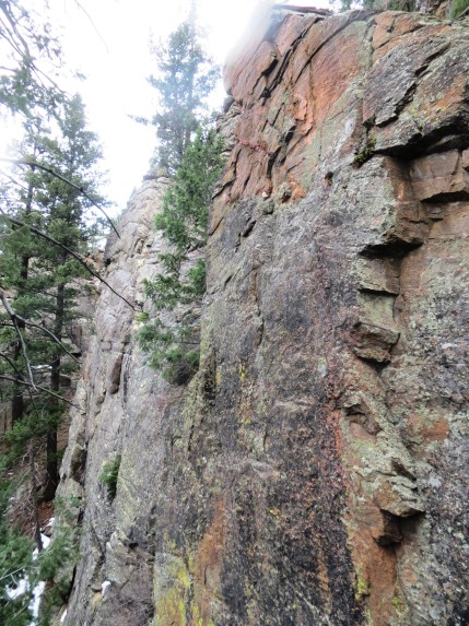 The area also boasts a number of steep slabs with bomber, well-featured rock like this.