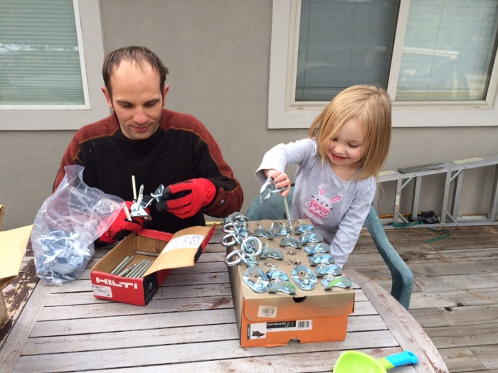 The original Chocolate Bandit helps daddy camouflage some hardware.